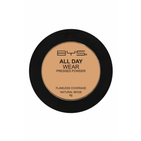 BYS All Day Wear Pressed Powder Natural Beige