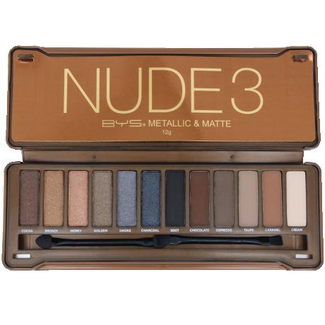 BYS Eyeshadow Palette NUDE 3 Metallic&Matte