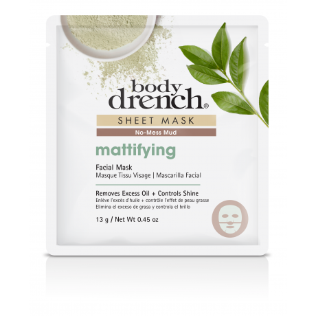 Body Drench Sheet Mask Mattifying Green Mud
