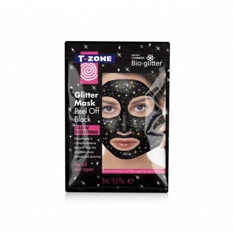 TZone Kasvonaamio Peel Off Glitter Black Mask 20ml