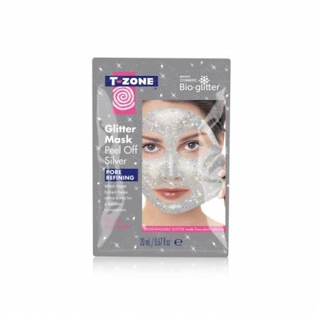 TZone Маска-пленка для лица Glitter Silver 20мл