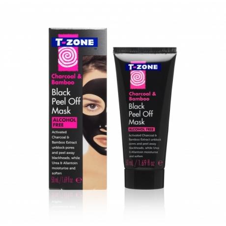 TZone  Маска-пленка для лица Charcoal and Bamboo Black 50мл
