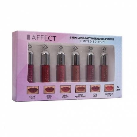 AFFECT Long-Lasting  Комплект жидких губных помад  6 mini