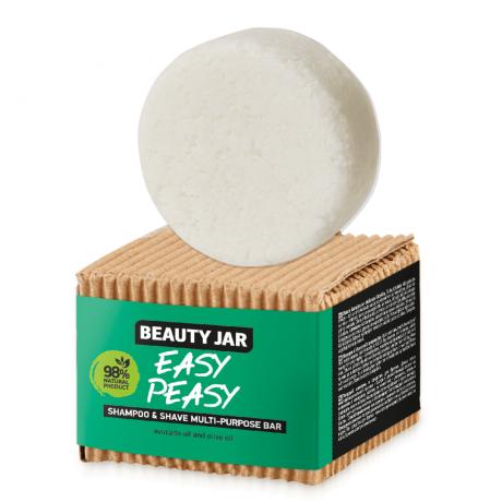 Beauty Jar Shampoo and Shave multi-purpose bar Easy Peasy 60g