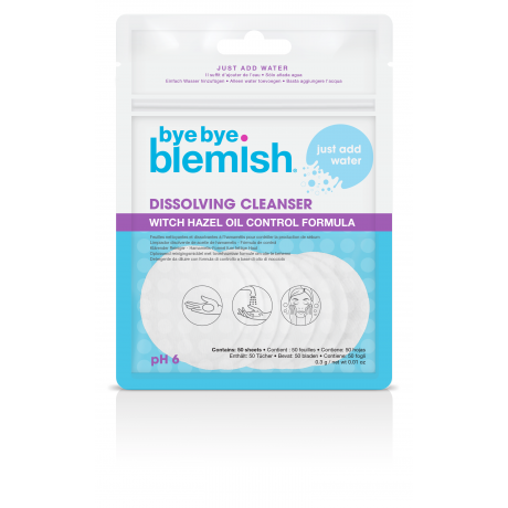 Bye Bye Blemish Очищающие салфетки Dissolving Cleanser 50шт