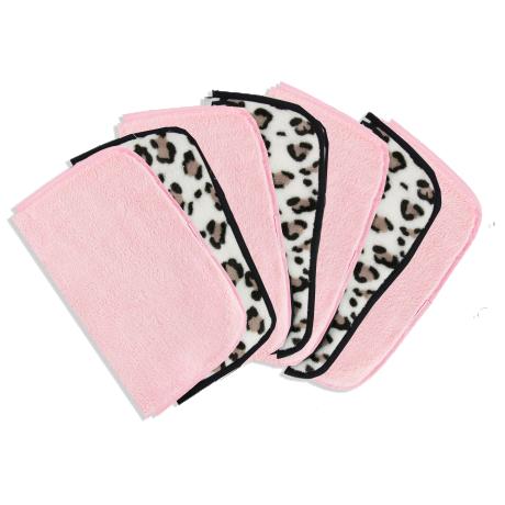 The Vintage Cosmetic Company 7 Day Тканевые салфетки для снятия макияжа с Леопардовым принтом и розовые 7шт