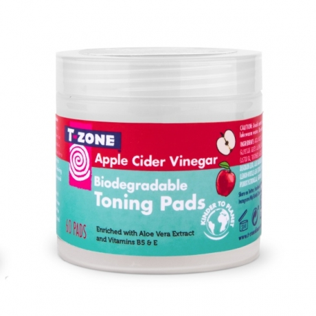 T Zone Skincare Biodegrade Toning Pads Apple Cider Vinegar 60pc