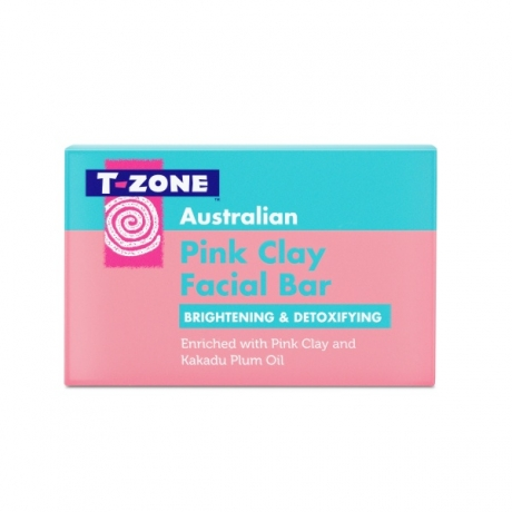 T Zone Skincare Facial Cleasing Bar Pink Clay 100g