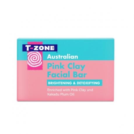 TZone Skincare Очищающее мыло для лица с розовой глиной 100г
