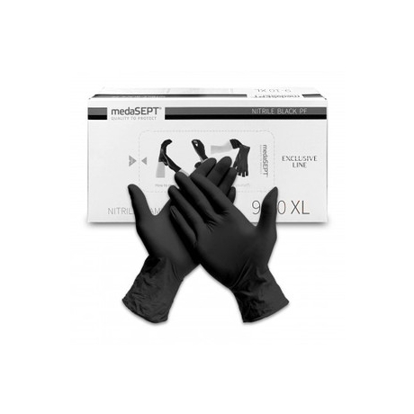 MedaSEPT Nitrile Examination Gloves M 100 pcs black