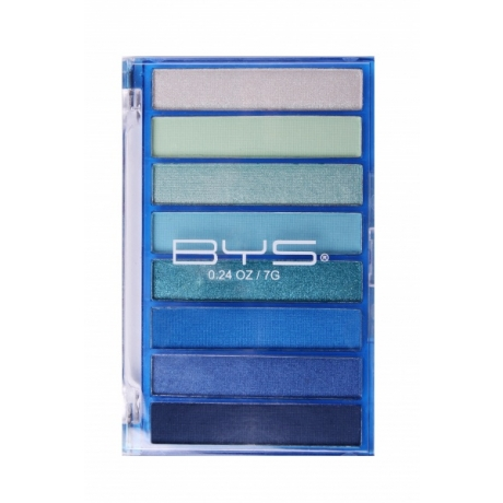 BYS Eyeshadow Palette Transparent Blue 8pc