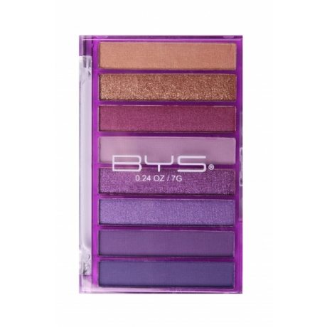 BYS Eyeshadow Palette Transparent Purple 8pc