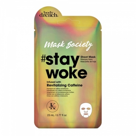 Body Drench Тканевая маска Stay Woke with Revitalizing Caffeine