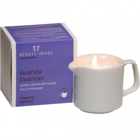 Beauty Image Hot Oil Massage Candle Lavender 80g