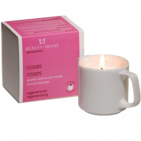 Beauty Image Hot Oil Massage Candle Rose 80g