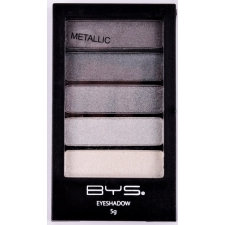 BYS Eyeshadow Metallic GUNMETAL GREYS 5 pc