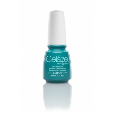 China Glaze Gelaze Gel  Turned Up Turquoise 9,76ml