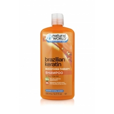 Natural World Brazilian Keratin Smoothing Therapy Shampoo 500ml