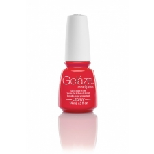 China Glaze Gelaze Gel Red Y To Rave 9,76ml