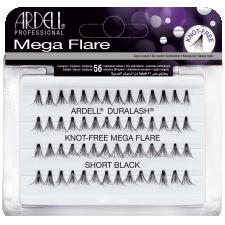 Ardell Mega Flare Knot-Free Short Black Пучковые ресницы