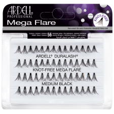 Ardell Mega Flare Knot-Free Medium Black Пучковые ресницы