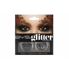 BYS Glitter Face & Body Kit SILVER