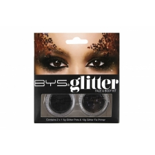 BYS Glitter Face & Body Kit BLACK