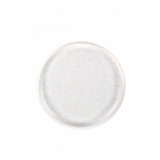 BYS Silicone Blending Sponge Round Clear with AB Glitter