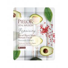 Pielor Vital Infusion Восстанавливающая тканевая маска для лица с экстрактом авокадо 25мл