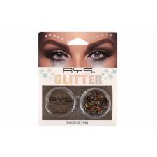 BYS Loose Glitter 2 Pack MULTI COLOUR