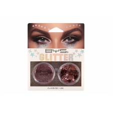 BYS Loose Glitter 2 Pack ROSE GOLD