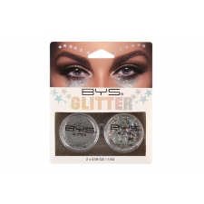 BYS Loose Glitter 2 Pack SILVER