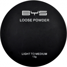 BYS Loose Powder with Puff Light To Medium