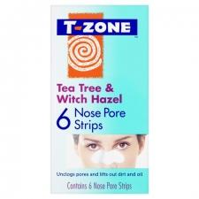 TZone Nose Pore Strips Tea Tree and Witch Hazel 6pc