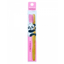 Absolute Bamboo Kids pink Бамбуковая зубная щетка для детей розовая