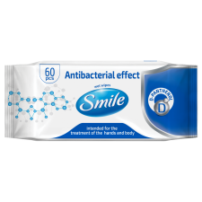 Smile antibacterial wet wipes 60pc