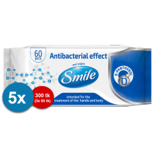 Smile antibacterial wet wipes 60pc combo 5pc