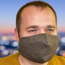 FACEWEAR Мультифункциональная маска с фильтром Vintage Brown