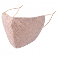BYS Kasvomaski 3 Layer Lace Pink with Nude
