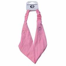 BYS Headband Ear Saver With Buttons Pink