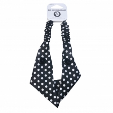BYS Headband Ear Saver With Buttons Polka dot