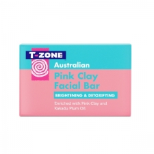 TZone Skincare Facial Cleasing Bar Pink Clay 100g
