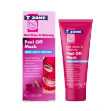 TZone Skincare Peel Off Mask Red Shiso and Ginseng Blue Light Defence 50ml