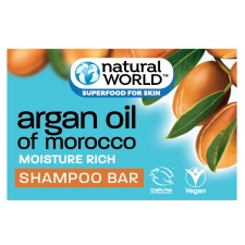 Natural World Твердый шампунь Argan Oil of Morocco Shampoo Bar 100г
