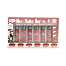 theBalm Meet Matte Hughes Pitkäkestoinen nestemäinen huulipuna Mini Kit 8 NUDE