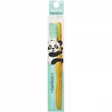 Absolute Bamboo Kids pink Бамбуковая зубная щетка для детей зеленая