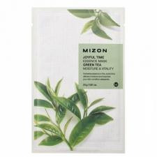 Mizon Joyful Time Essence Mask Green Tea Тканевая маска с эстрактом зеленого чая 23г