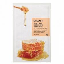 Mizon Joyful Time Essence Mask Royal Jelly Питательная тканевая маска с пчелиным маточным молочком 23г