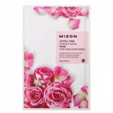 Mizon Joyful Time Essence Mask Rose Тканевая маска с экстрактом лепестков розы 23г