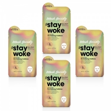 Body Drench Sheet Mask Stay Woke with Revitalizing Caffeine 4pc